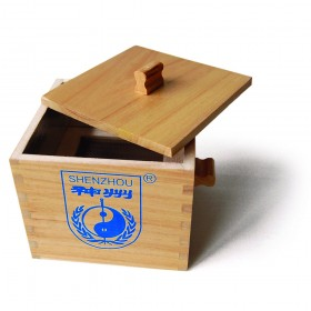 Wooden box for bulk moxa