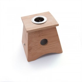 Moxa box made in bamboo with 1 hole - for cigar