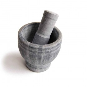 Mortar for plants in marble and jade