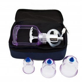 """""""""""Travel kit""""""""with 16 cupping jars with suction ball"""